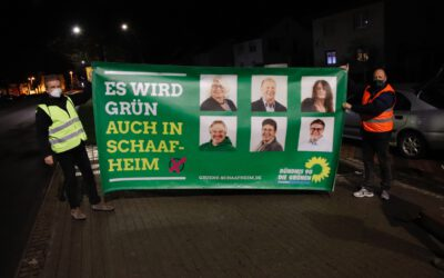 Mitternacht in Schaafheim:  Der Wahlkampf beginnt