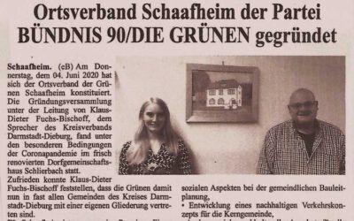 Presseschau: Grüner Ortsverband für Schaafheim