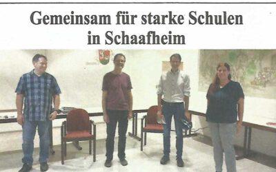 Presseschau: Schule in Schaafheim